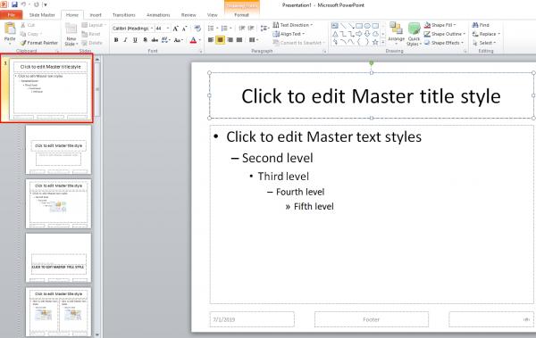 Tạo Slide Master