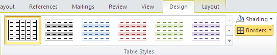 Chỉnh sửa cấu trúc bảng và định dạng bảng