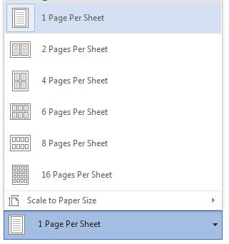 Page Per Sheet