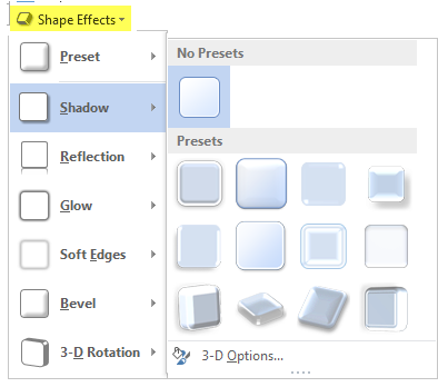 Shape Effects