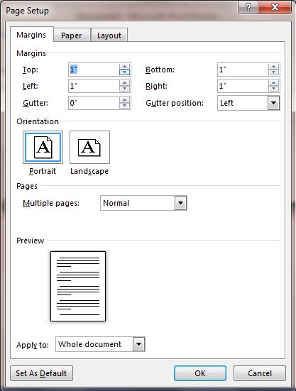 định dạng khổ giấy