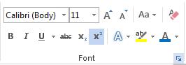 Sử dụng hộp thoại Font