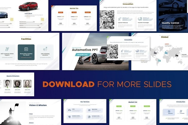 Mẫu Powerpoint Marketing Automotiva Media
