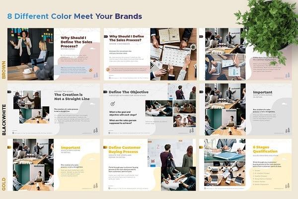 Mẫu Powerpoint Marketing B2B & Sale