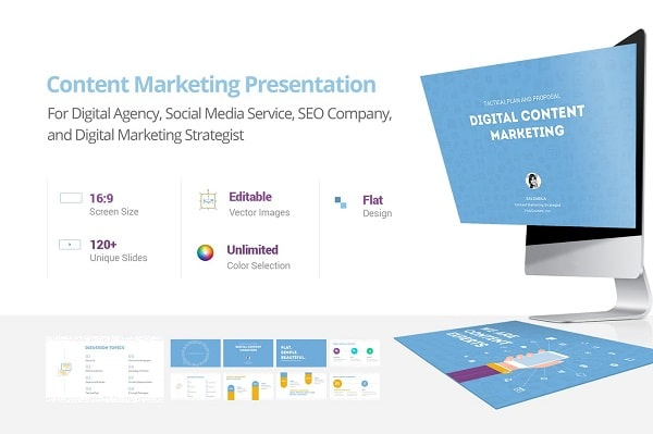 Mẫu Powerpoint Marketing Content