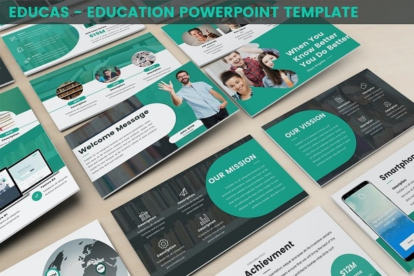 Mẫu Powerpoint Giáo Dục Educas