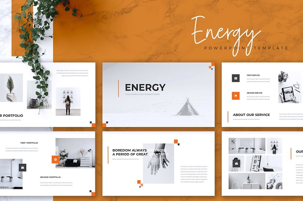 Mẫu Powerpoint Marketing Energy
