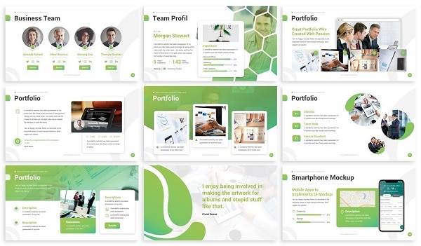 Mẫu Powerpoint Doanh Nghiệp Experience