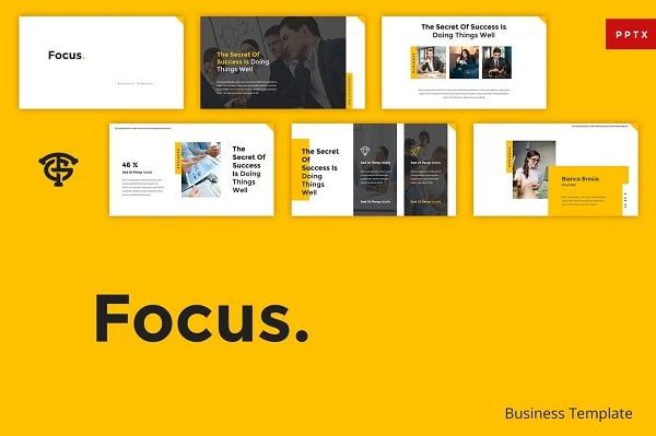 Mẫu Powerpoint Doanh Nghiệp Focus