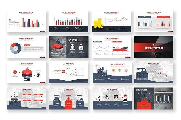Mẫu Powerpoint Doanh Nghiệp Industry