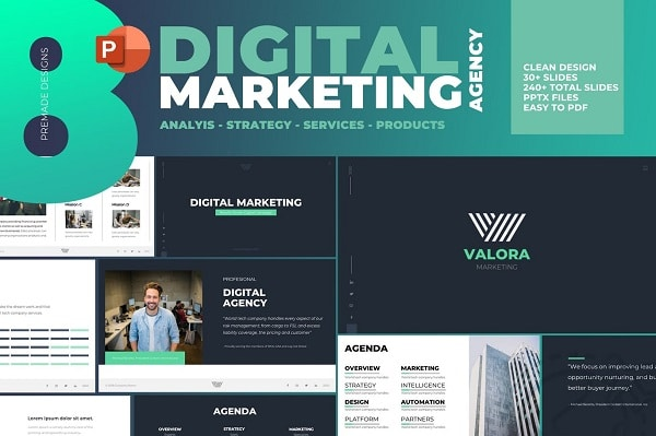 Mẫu Powerpoint Marketing Digital