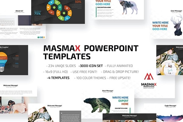 Mẫu Powerpoint Marketing Masmax