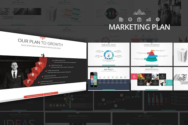 Mẫu Powerpoint Marketing Plan