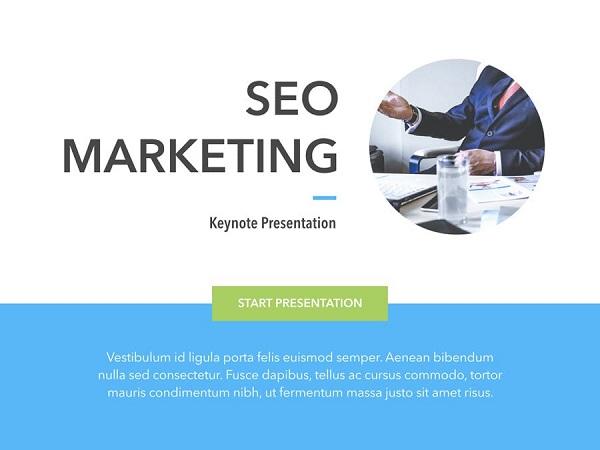 Mẫu Powerpoint Marketing SEO