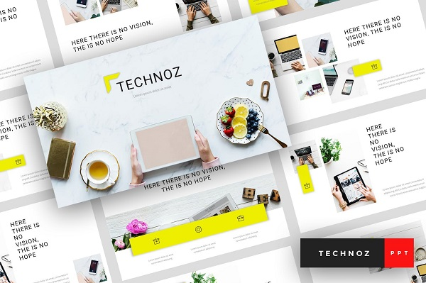 Mẫu Powerpoint Marketing Technoz