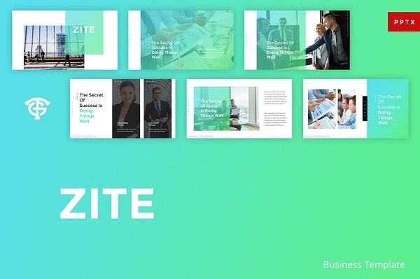 Mẫu Powerpoint Doanh Nghiệp Zite