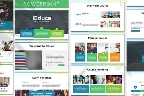 Mẫu Powerpoint Giáo Dục IEduca