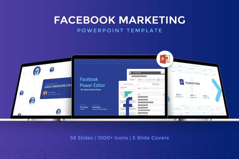 Mẫu Powerpoint Marketing Facebook