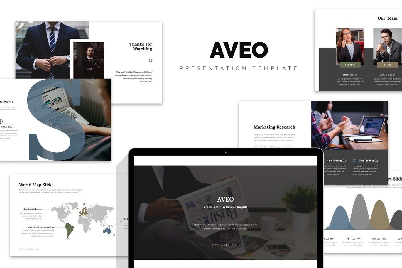 Mẫu Powerpoint Marketing Aveo