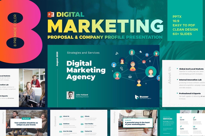 Mẫu Powerpoint Marketing Agency