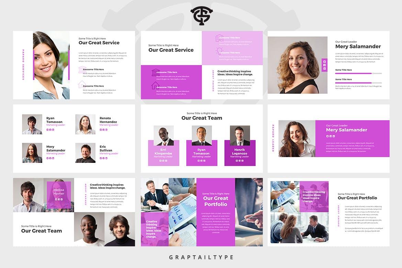 Mẫu Powerpoint Marketing Paparo