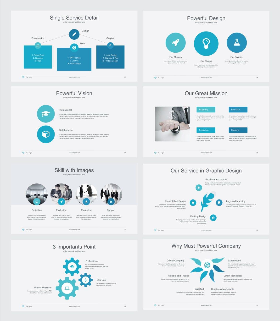 Mẫu Powerpoint Marketing Powerfull Multipurpose