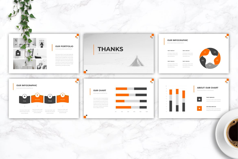 Mẫu Powerpoint Marketing Energy