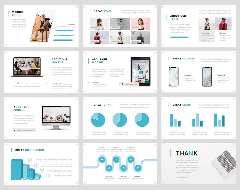 Mẫu Powerpoint Marketing Lanze