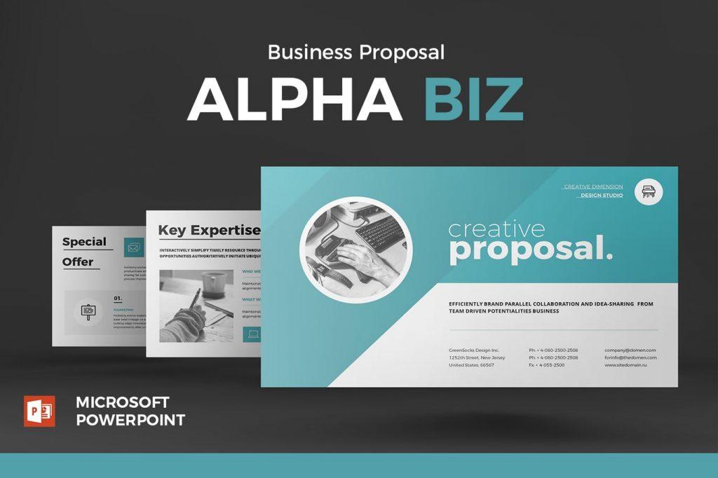 Proposal - Mẫu powerpoint doanh nghiệp hiện đại