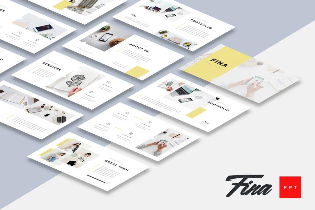 Fina - Mẫu powerpoint thuyết trình chuyên nghiệp