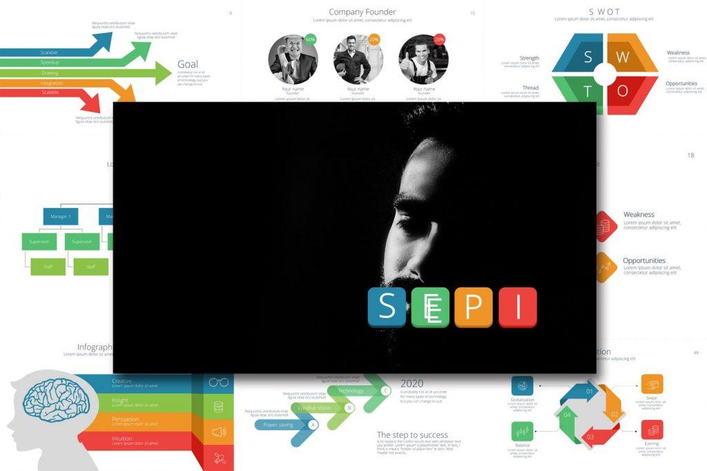 Sepi - Mẫu powerpoint chuyên nghiệp, đa năng