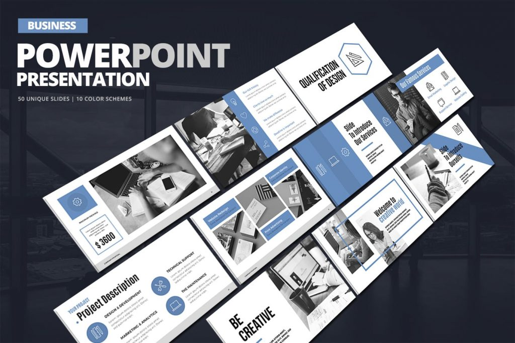 Presentation - Bộ mẫu powerpoint hiện đại, chuyên nghiệp