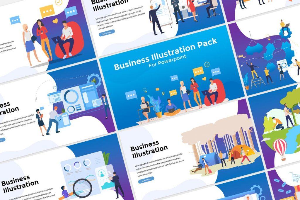 Illustration - Mẫu powerpoint doanh nghiệp hiện đại, đẹp mắt