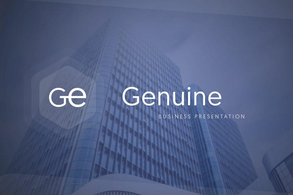 Genuin - Mẫu thuyết trình powerpoint chuyên nghiệp