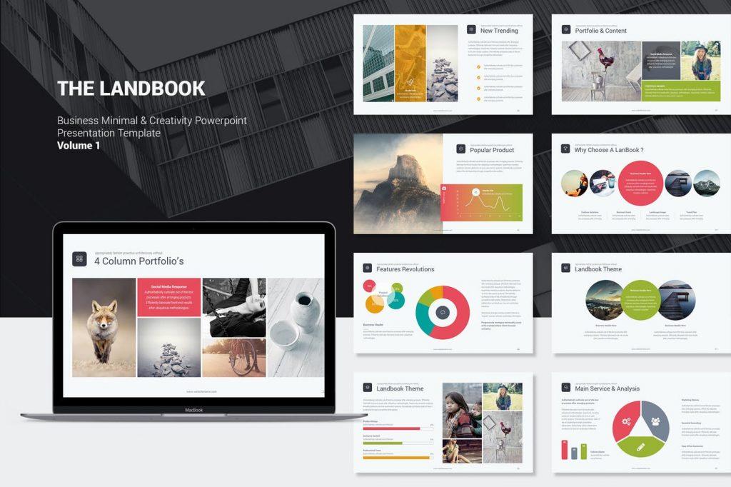 Landbook - Mẫu powerpoint chuyên nghiệp, hiện đại