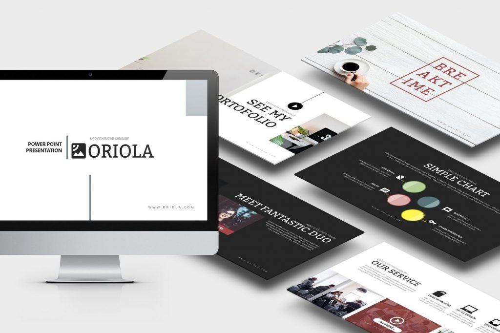Oriola - Mẫu powerpoint doanh nghiệp hiện đại