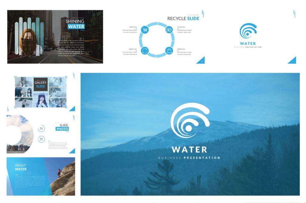 Water - Bộ powerpoint doanh nghiệp sáng tạo