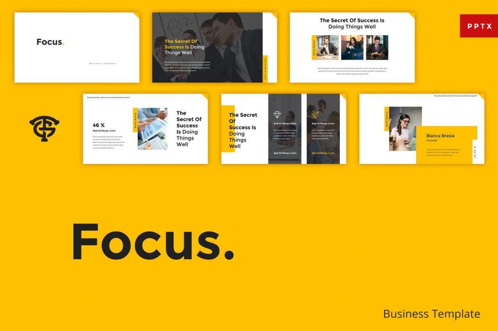 Focus - Mẫu powerpoint chuyên nghiệp, đơn giản