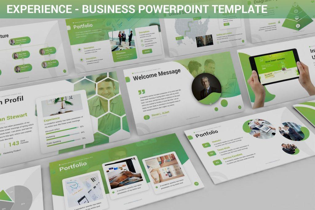 Experience - Mẫu powerpoint thiết kế hiện đại